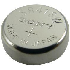 LENMAR WC384 1.55-Volt Silver Oxide Watch Battery (SR41SW; 45mAh)
