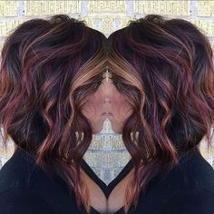 fall hair Hello from the other side, weve called a thousand times to tell you this color makes our heart flutter. Right, Adele heatherpaigelankford Hair Color And Cut, Violet Red Hair Color, Fun Hair Color, Black Cherry Hair Color, Pinterest Hair, Love Hair, Up Girl, Hair Today, Hair Dos