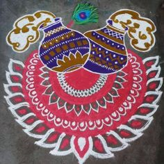Rangoli Borders, Rangoli Border Designs, Rangoli Patterns, Rangoli Ideas, Kolam Rangoli, Rangoli Designs Latest, Colorful Rangoli Designs, Rangoli Designs Images, Beautiful Rangoli Designs