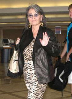 CDL Exclusive: A Conversation with Comedienne and Political Activist Roseanne Barr Big And Beautiful, Beautiful Dolls, Roseanne Barr, Happy 60th Birthday, Pattern Mixing, Teal Blue, Gray Color, Actresses, Illuminati