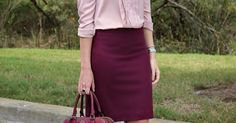 Cranberry (Bows & Depos) | Burgundy, Pencil Skirts and Pencil