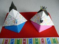 おひなさまBOX:おりがみやさん:So-netブログ Hina Matsuri, Girl Day, Washi, Paper Crafts, Japanese, Blog, Handmade, Japanese Language, Papercraft