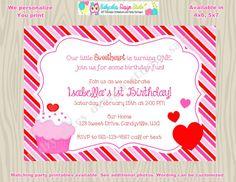 Valentine birthday invitation invite 1st birthday valentines day valentine birthday party invitation invite girl 1st birthday filmwisefo