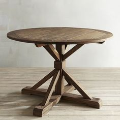 Remington Natural Round Wood Dining Table Brown