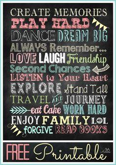 Tableau Fonts gratuits et imprimables ...  Liens vers les téléchargements à the36thavenue.com
