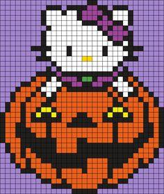Halloween Hello Kitty Perler Bead Pattern / Bead Sprite