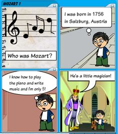 The first part of a comic about Mozart's biography with a couple of important details about his life for students. Digital Storytelling, A Comics, The Magicians, Biography, Rally, Musicals, Students, March, Family Guy