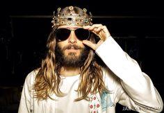 Jared Leto in Dolce & Gabbana (including the crown)
