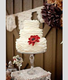 Bolos de casamento inspirados no outono. #casamento #bolodosnoivos #branco #vermelho #castanho #flores #outono #inspiração
