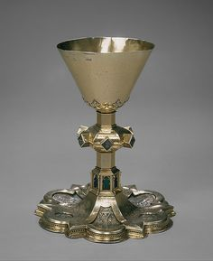 Chalice ca 1380-90  Made in Barcelona,Cataluña,Spain  silver,silver gilt,enamels  The Cloisters Collections