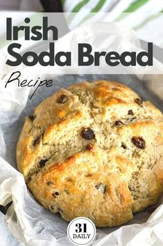Irish Soda Bread with Buttermilk and Raisins is a favorite St. Patrick's Day tradition at our house. Soft and tender on the inside, with a hint of sweetness, the buttermilk delivers a subtle tang that is absolutely delicious. Armenian Recipes, Irish Recipes, Armenian Food, Irish Meals, Bread Recipes, Baking Recipes, Pub Recipes, Traditional Irish Soda Bread, Ireland