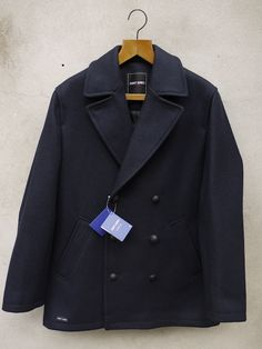 Pea Coat (Navy) | Pavois Pea Coat, Menswear, Navy, Jackets, Clothes, Products, Fashion, Hale Navy, Down Jackets