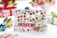 Create a set of gorgeous festive cards using the Christmas On Market Street collection from My Mind's Eye in our November issue, out now! http://cliqq.co.uk