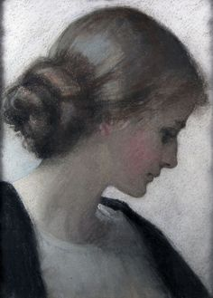 ♀ Painted Art Portraits ♀ Florence Hardy:  I like the softness in this portrait.