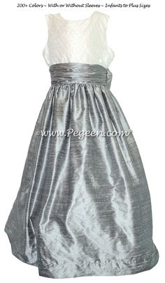 233 best gray flower girl dresses images on pinterest in 2018 silver gray and antique white with pearls flower girl dresses mightylinksfo
