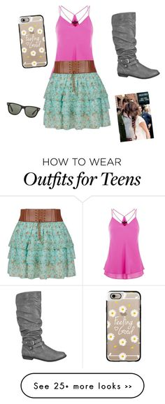 """""""Untitled #101"""" by maggie-arrington on Polyvore featuring maurices, Casetify and Ray-Ban"""
