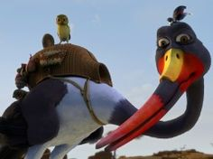 Adventures in Zambezia, the first animated feature film produced by Cape Town-based Triggerfish Animation Studios, opened in Russia last week on over 800 screens. First Animation, Feature Film, Russia, Owl, Cartoon, Bird, Animals, Waterfalls, Animales