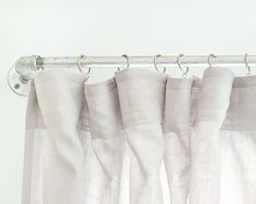"""DIY Curtain """"Pipes"""" for less than $30 {via Yellow Brick Home}"""