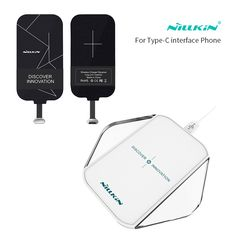 Nillkin Type-C Receiver qi wireless charger Portable Wireless Charger Pad For xiaomi mi5 mi5s meizu for huawei zuk for oneplus 3