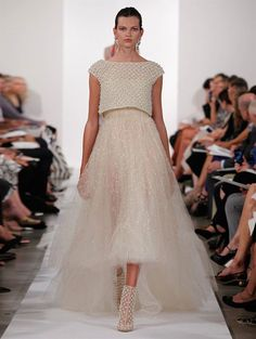 wedding dress with tulle and cropped top