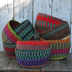 Collection of African Baskets African Interior, African Home Decor, African Design, African Art, African Style, Weaving For Kids, Basket Weaving, Wicker Baskets, Handicraft