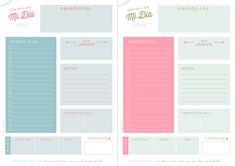 Freebies: Planificador diario para empezar el año a tope
