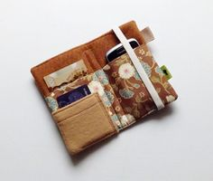 Japanese design iphone wallet flower wallet iphone by TLCPouches, $25.00