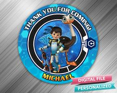 Miles From Tomorrowland Favor Tag by kidspartydiy on Etsy