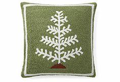 Christmas Tree 16x16 Pillow, Green