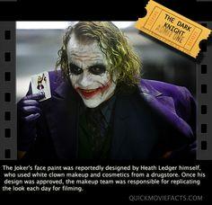 The Dark Knight. Another reason to love Heath Ledger as the joker