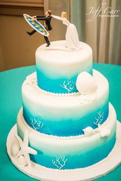 Beach Wedding Cake at Ocean Landings Resort