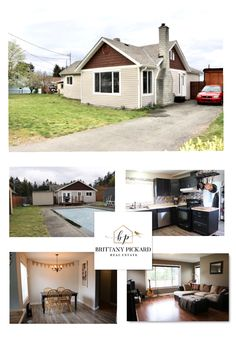 Fantastic family home located on acre in the beautiful seaside community of Chemainus. You will feel instantly at home when you enter this 2 bedroom, 1 bath home with in-ground pool. Real Estate Services, Updated Kitchen, In Ground Pools, Floor Space, Brittany, Acre, Seaside, Home And Family, Shed