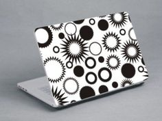 Black and white spikey circles Laptop Skin, Circles, Black And White, Cards, Black N White, Black White, Maps, Playing Cards