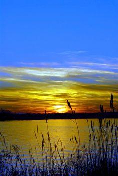 Sunset On Chesapeake Bay Sailcloth Print