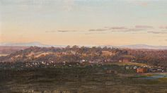 Distant View towards Yarra Bend from Our Little Tower, 1871, by Eugene von Guerard.