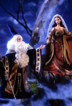 Ken® and Barbie® as Merlin and Morgan Le Fay (from an older collection but hey! Arthurian!)
