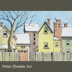 "Another early Urban Landscape miniature work, 2.5""x3.5"", Sold on auction at…"