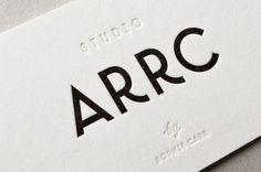 custom letterform details | Studio ARRC