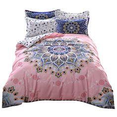 Svetanya mandala print bedding set thick soft sanding cotton bedlinen winter Queen King size duvet cover set