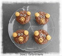 Silvia's Tortenträume: Knoppers-Muffins Affe Bär Monkey
