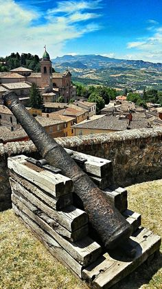 """The view onto Verucchio (Italy) from the castle"""", province of Rimini , Emilia Romagna region Italy"""