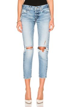 Image 1 of Moussy Sanford Tapered in Light Blue