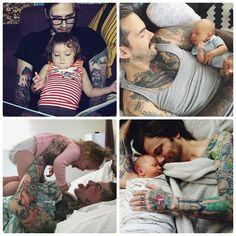 Even brutal daddies are lovely with their kids ❤ #nikitonybaby #nikitony #instababy #baby #bandanabib #bibdana