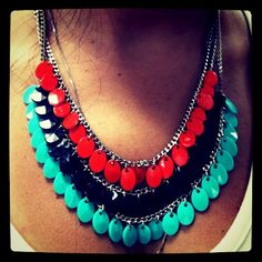 #necklace #colorblock #acessories