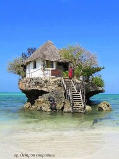 The Rock Restaurant in Zanzibar, Tanzania, via It's a beautiful world. One of the world's unique restaurants. The Rock Restaurant in Zanzibar, Tanzania (via designerhk). Places Around The World, The Places Youll Go, Places To See, Around The Worlds, Wonderful Places, Beautiful Places, Amazing Places, Amazing Things, Unusual Homes