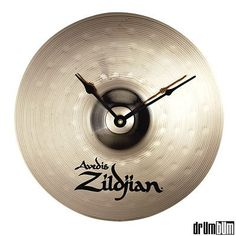 Cymbal Clock – cymbals are an important part of the drumset. They're also very personal to drummers as hardly any two sound alike. – from Drum Bum