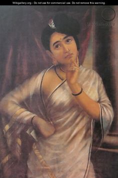 Raja Ravi Varma, Reverie. Kerala Painting