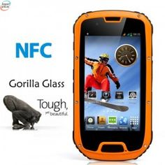 """Fortis NFC Rugged 4.3 """"Quad Core - Gorilla Glass Display, Android 4.2 OS, IP67 Waterproof - Color Selection"""