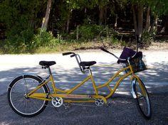 Tandem bike on Mackinac Island