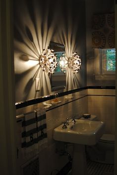 robert abbey anemone as sconce | ... , accessories / Robert Abbey anemone sconce in my bathroom makeover